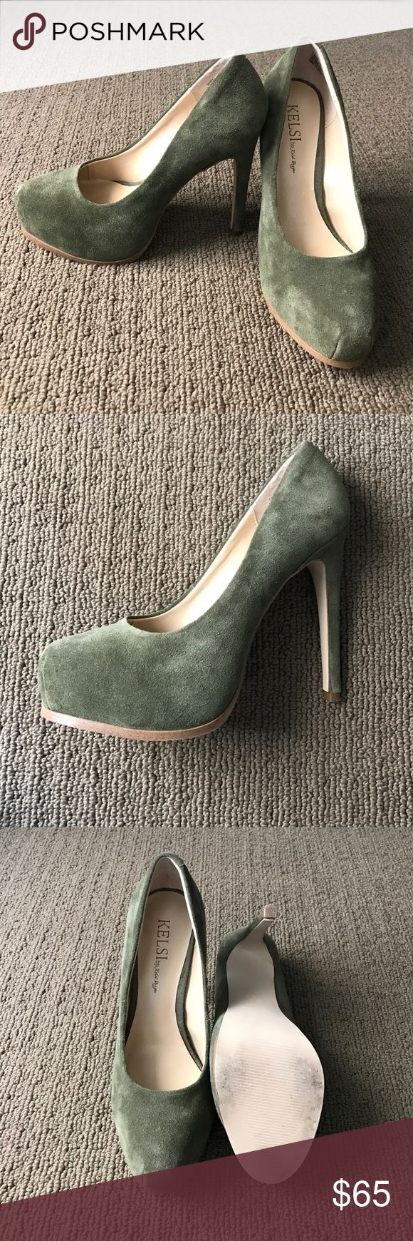 "Kelsi Dagger Suede "" Linzy"" Pumps Army green suede. Hidden platform. Size 7. Worn once- perfect condition! Kelsi Dagger Shoes Heels"