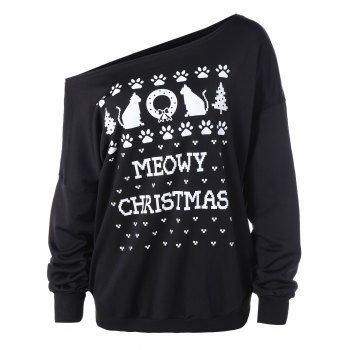 SHARE & Get it FREE | Plus Size Meowy Christmas Graphic SweatshirtFor Fashion Lovers only:80,000+ Items·FREE SHIPPING Join Dresslily: Get YOUR $50 NOW!