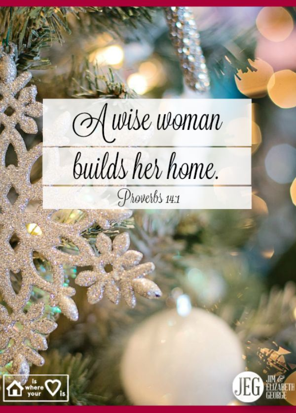 """As homemakers, we are in a unique position to influence the financial climate of our home. Commit to being a wise money manager: Be content with what you have, spend wisely, and be a diligent homemaker and financial warrior as you """"build your home"""" (see Proverbs 14:1)."""