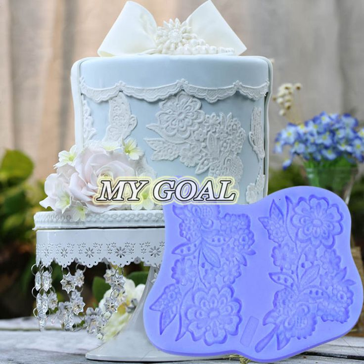 Cake With Fondant Lace : Details about Silicone Fondant Lace Mould Cake Decorating ...