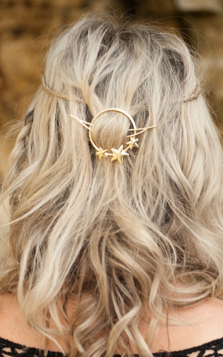 Stephanieverafter   Halo Hair Clip Gold or Silver