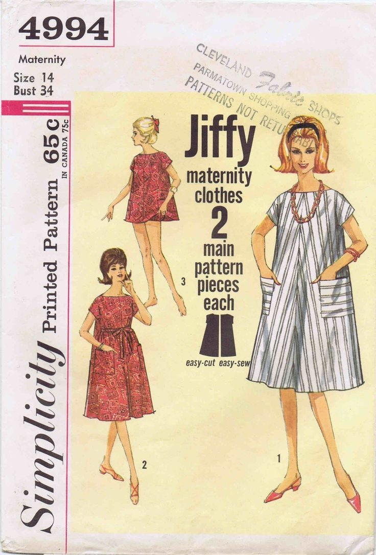 26 best maternity patterns images on pinterest maternity amazon 1960s maternity one piece dress top panties simplicity 4994 vintage sewing pattern ombrellifo Choice Image