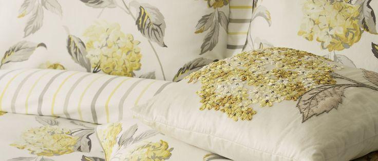 Hydrangea Camomile Cotton Duvet Cover at Laura Ashley