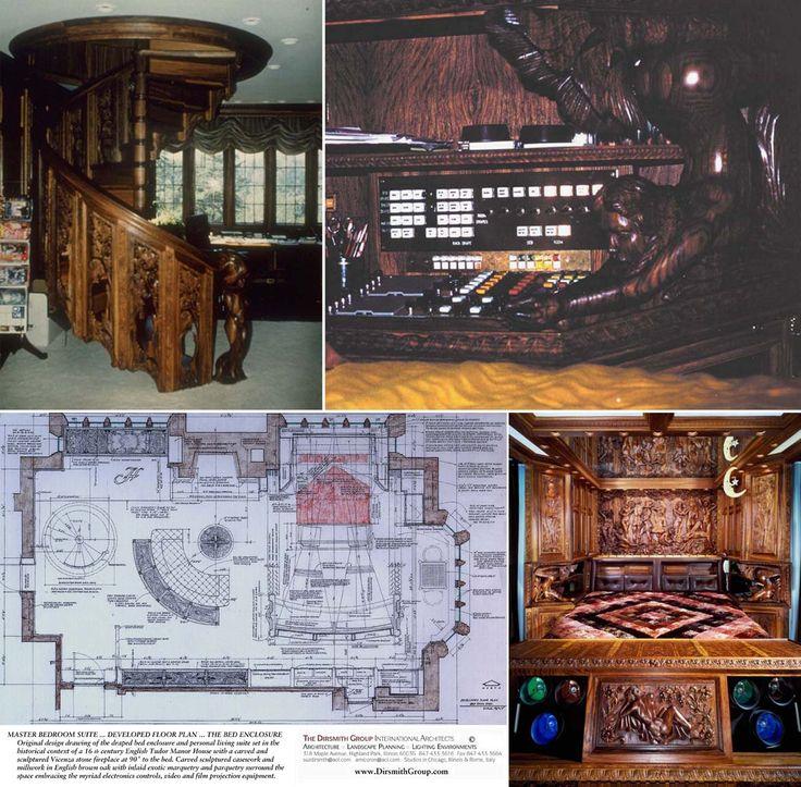 Hugh Hefner Playboy Mansion Master Bedroom Floor Plan
