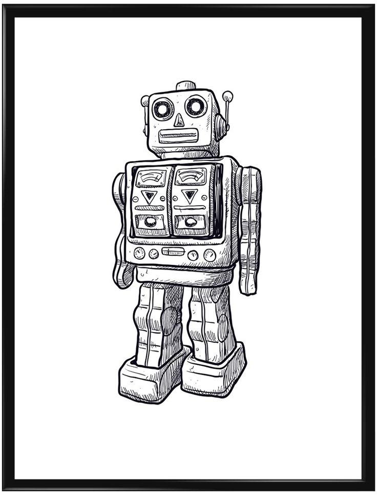 En tecknad glad robot uppskattar de flesta barn att ha hemma. Köp hem denna till…