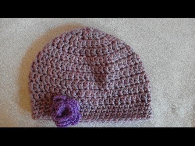 Prosta czapka na szydełku część 1. Simple crochet beanie part 1. czapeczka szydełkowa