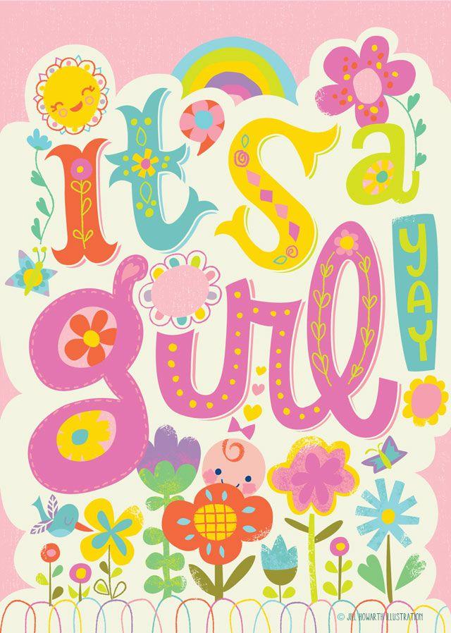 peaceable kingdom baby card / Jill Howarth