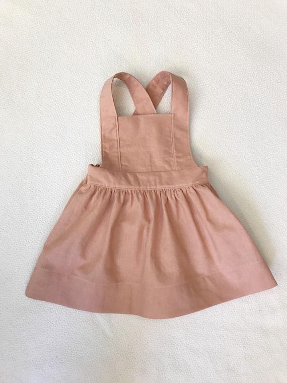 e292e60dcb94 Girls Linen Pinafore