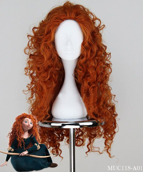 Top New Brown Brave Princess Merida Cosplay Wig by HeyGirl16