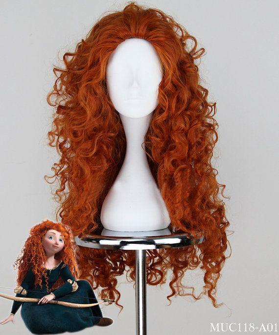 Top New Brown Brave Princess Merida Cosplay Wig by HeyGirl16