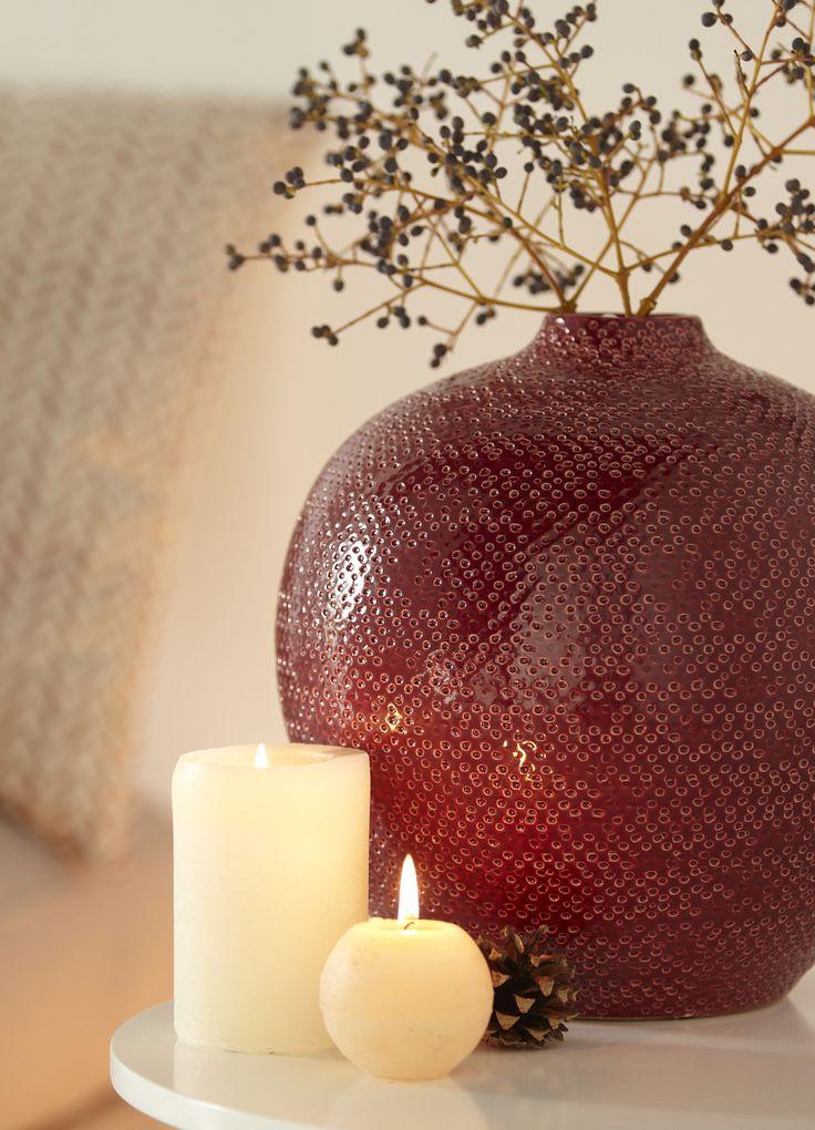 gabriel d co vase soliflore en c ramique rouge d co. Black Bedroom Furniture Sets. Home Design Ideas