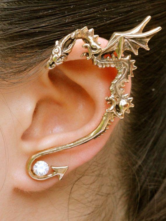 Dragon oído envoltura Dragon oído brazalete bronce por martymagic