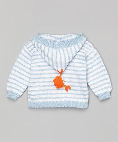 Look at this #zulilyfind! Blue & White Stripe Hooded Cardigan - Infant by Victoria Kids #zulilyfinds