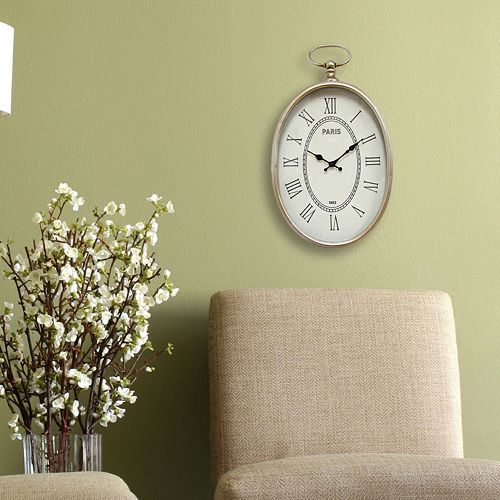 Stratton Home Decor Elegant Paris Wall Clock. 12 best kitchen images on Pinterest   Kohls  Outlet store and Outlets