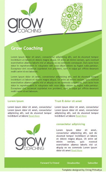 grow coaching template - 30 best graphic design newsletter project images on