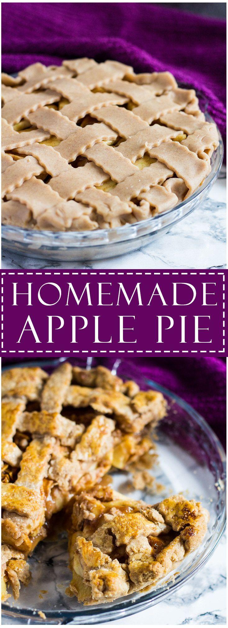 Homemade Apple Pie | http://marshasbakingaddiction.com /marshasbakeblog/