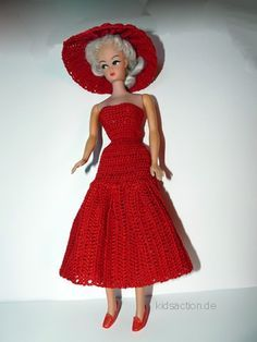 FREE PATTERN. Barbie Crochet Puppen Kleid.. ..♥..Nims..♥
