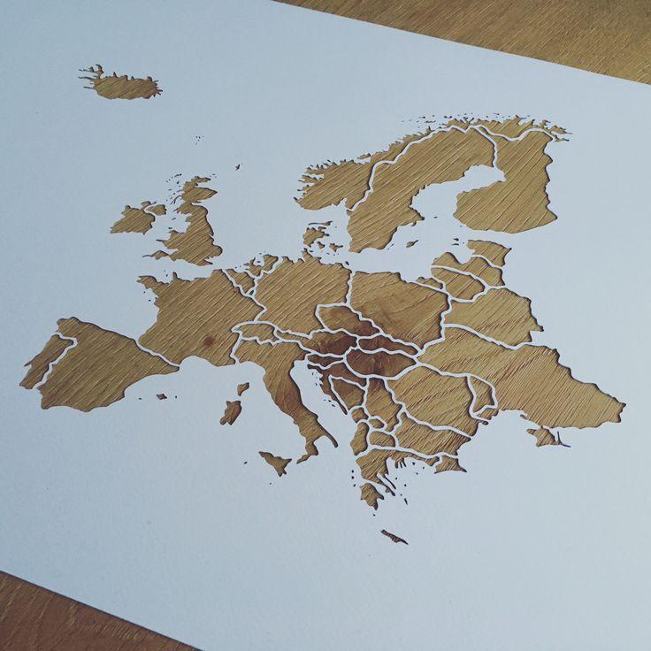 Rini Rizal Design - Map of Europe #paperart #rinirizaldesign #papercut #handcut