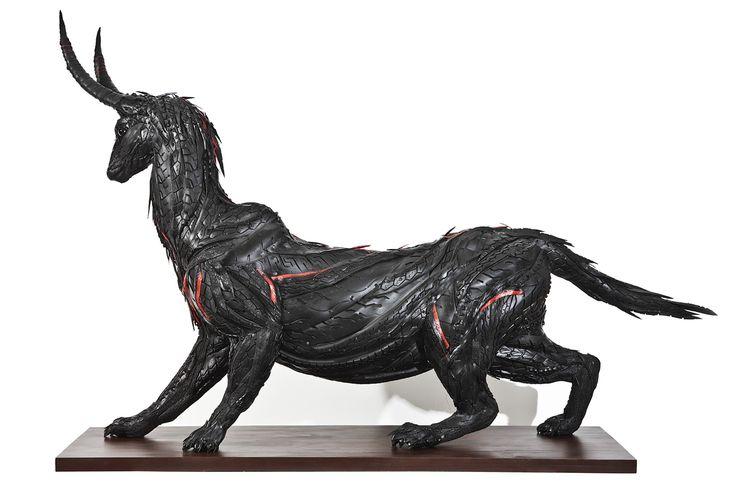 Yong Ho Ji: increibles esculturas a base de neumáticos reciclados |