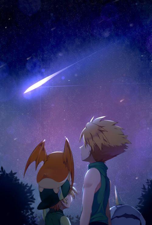 Digimon Adventure Family: Yamato (Matt) and Takeru (T.K.) Ishida with Gabumon and Patamon