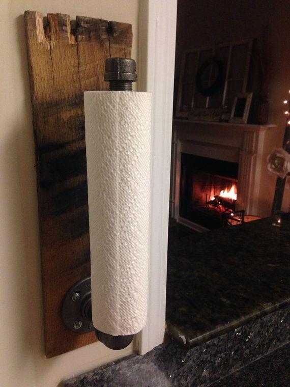 Rustic Industrial Towel Holder Kitchen & Bathroom by BrittandTyler #rustickitchens