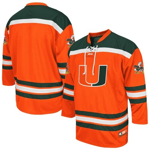 Mens Colosseum Green Miami Hurricanes Hockey Jersey