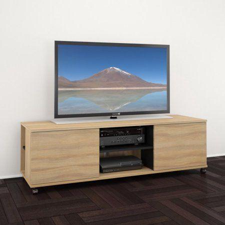Nexera Jasper 60 inch 2-Door TV Stand for TVs up to 60 inch, Multiple Colors, Black