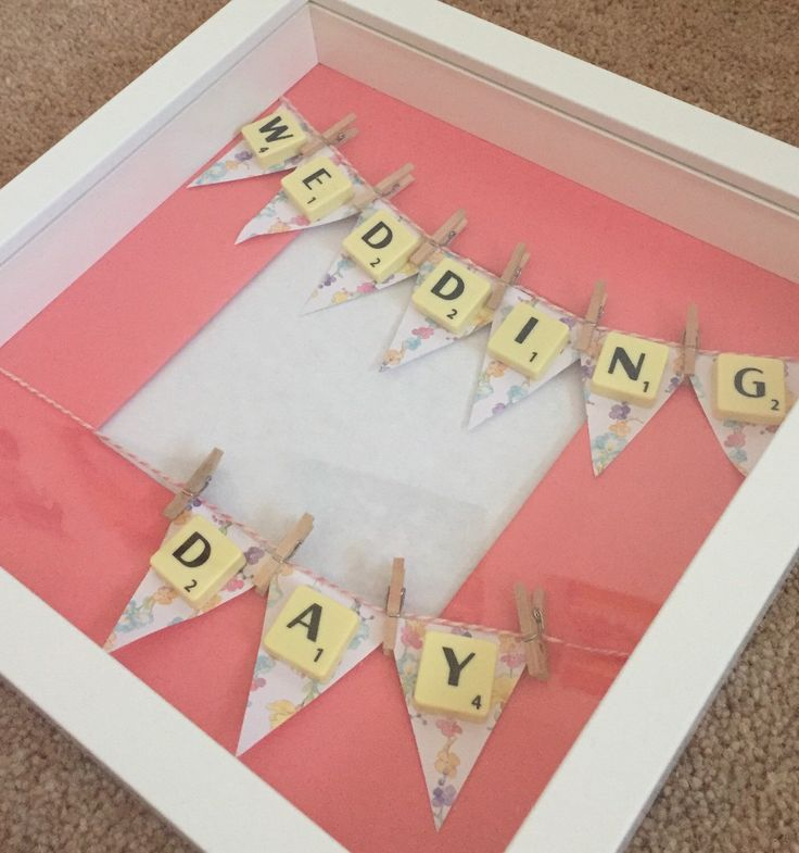 Wedding day photo frame. Scrabble art. Wedding gift. by Waystosay on Etsy https://www.etsy.com/listing/223881942/wedding-day-photo-frame-scrabble-art