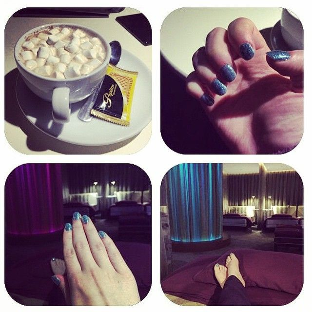 Great picture from our guest today at our spa! Why not come and get your @cndworld nails and relax in our relaxation suite?! Let us pamper you