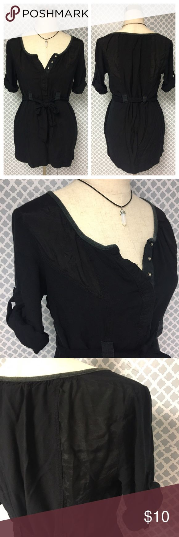 Urban Outfitters Staring at Stars Black Tunic Top Urban Outfitters Staring at Stars Black Tunic Top. Size medium! :) 15% off all bundles! Urban Outfitters Tops Tunics