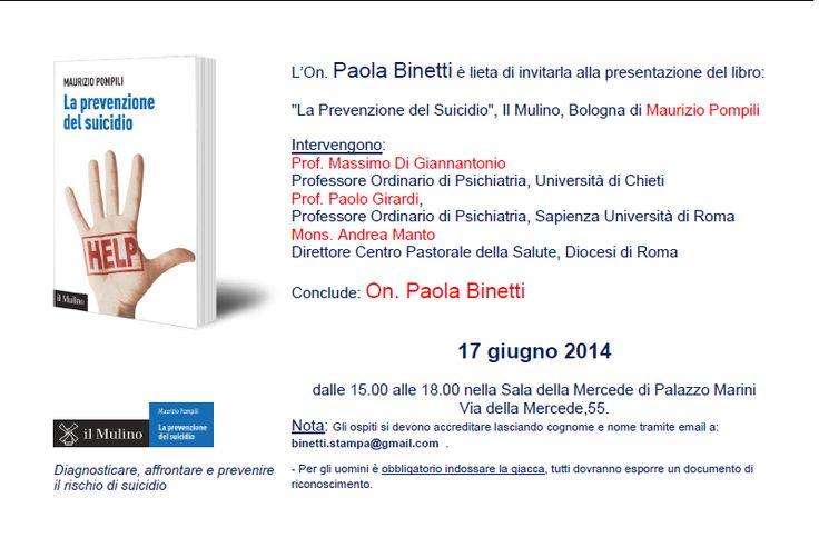 Invito presentazione libro presso Camera dei Deputati, 17 giugno 2014 ore 15,00