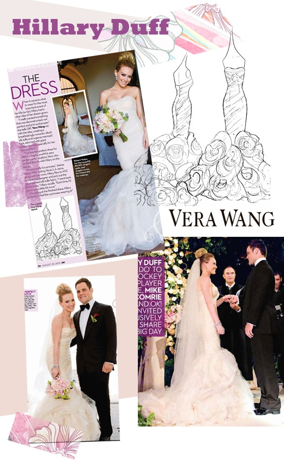 vera wang gemma dress - hillary duff wedding