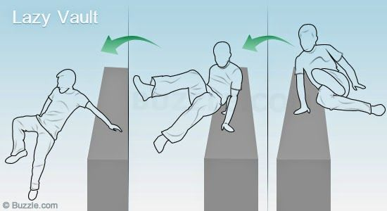 Parkour for beginners - learn parkour basic moves watching videos at home : simple vault.