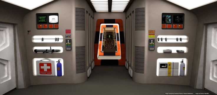 Space 1999 Eagle passenger module modelled and rendered by Peter O'Rourke