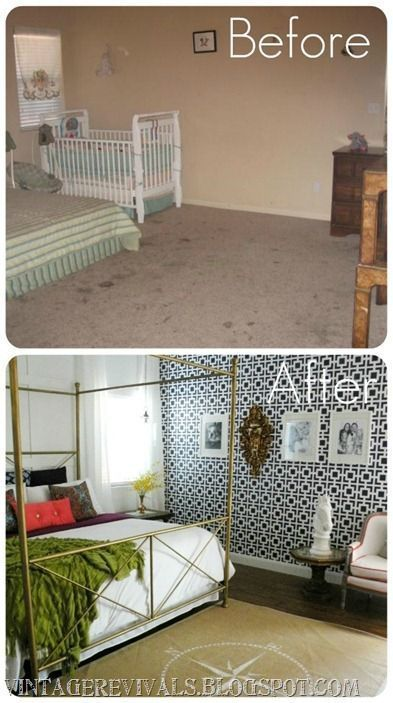 Mandi Gubler: Master Bedroom Before and After    www.vintagereviva… – – #bedro…