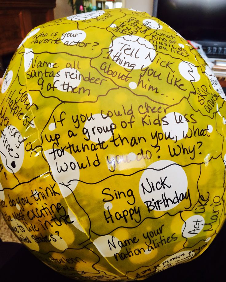 Games Kids Can Play At A Bday Party. Get A Beach Ball And