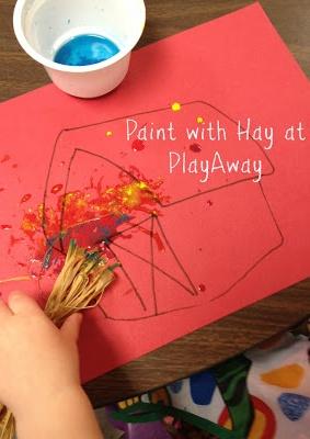 10 activiteiten o.a. schilderen met hooi.