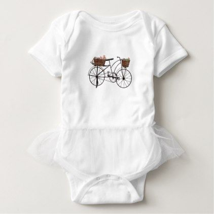 Antique bicycle baby bodysuit - antique gifts stylish cool diy custom