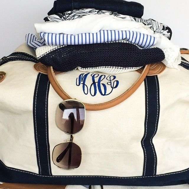 Monogrammed weekender from Marley Lilly! | Progression By Design