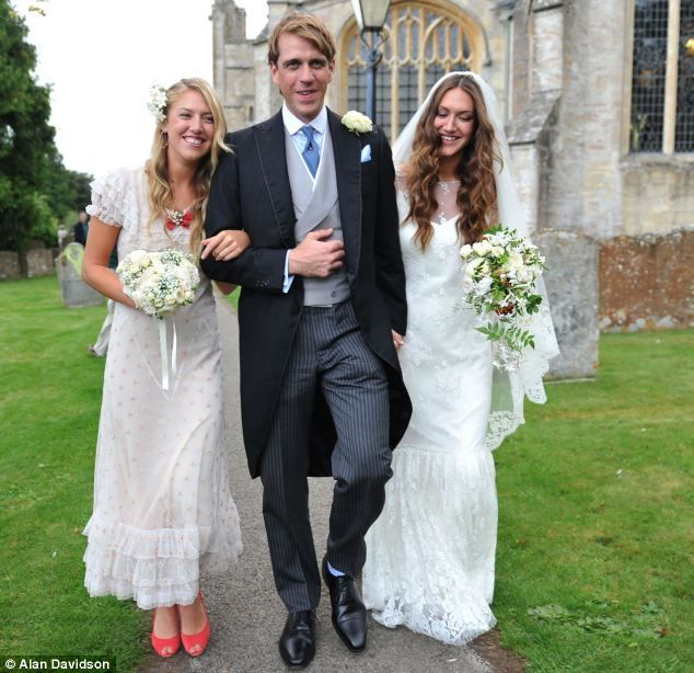 ride and groom Ben and Mary-Clare with Maid of Honour Eliza Winwood