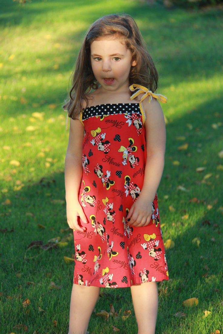 Minnie Mouse popover sundress by Oliver and S