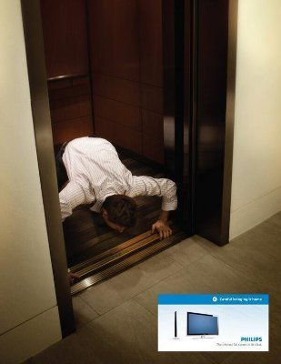 Philips: Careful bringing it home. The thinnest flat screen in its class.