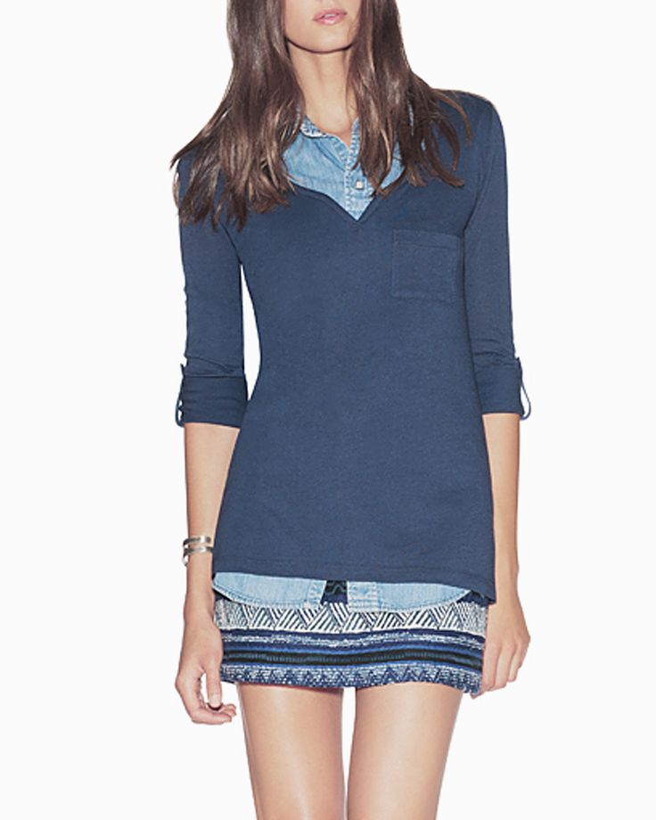 Crescent Henley by Stylemint.com, $14.99