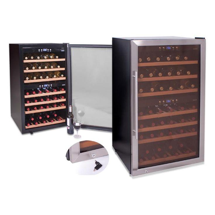 #винный #холодильник #Cavanova CV066-2T  Цена 139 400 Двухзонный винный шкаф имеет большую вместительность и широкий температурный диапазон от +5C° до +18°C, а также строгий, сдержанный, элегантный дизайн. Купить  http://shop.webdiz.com.ua/goods/vinnyj-holodilnik-cavanova-cv066-2t/