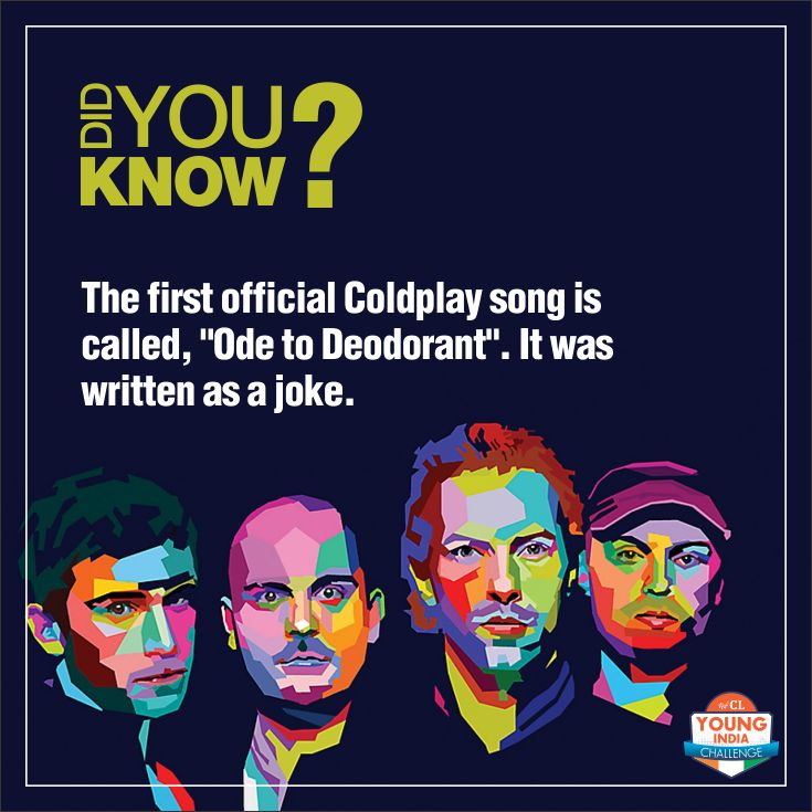 A #funfact for all the #Coldplay fans out there. #CLYIC #Music #inspiration #motivation #musicforlife
