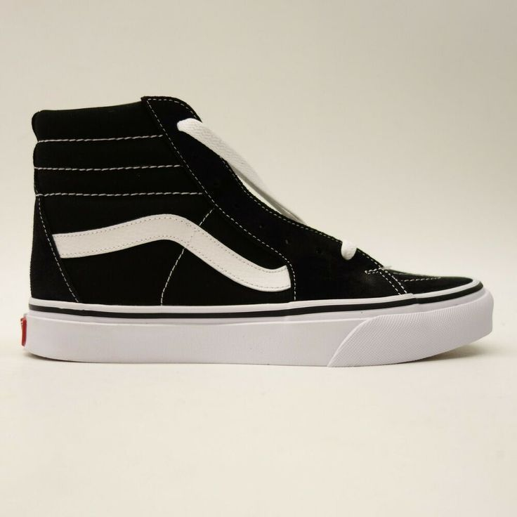 Vans Womens US 8 EU 38.5 Black White Skater High Top Classic