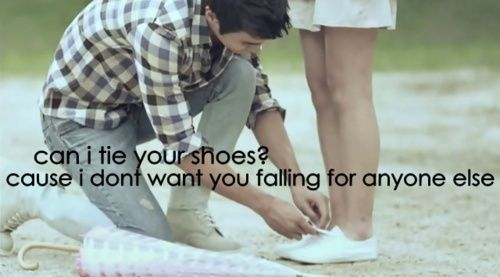 So sweet!! Can I tie your shoes, I don't want you falling