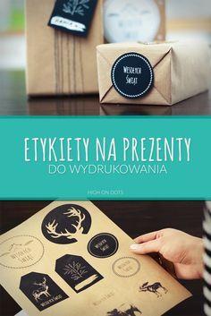 Etykietki do wydrukowania na świąteczne prezenty. #zawieszki #bileciki #BożeNarodzenie