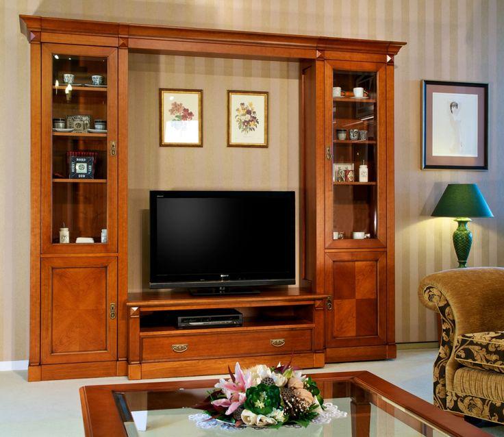 Elegance sestava - stolek a knihovny v obývacím pokoji, tradiční styl / living room furniture in classic style