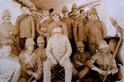 British soldiers during the Boer War.